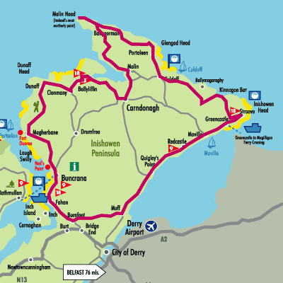 Map of Inishowen